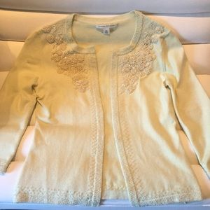 Banana republic beaded cardigan